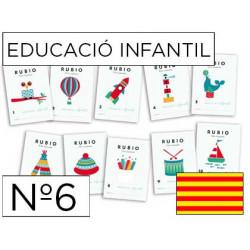 Cuaderno rubio educacion infantil nº6 catalan