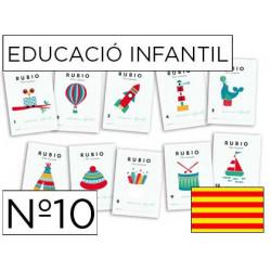 Cuaderno rubio educacion infantil nº10 catalan