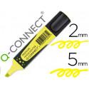 Rotulador qconnect fluorescente amarillo premium punta biselada con sujeci