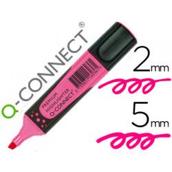 Rotulador qconnect fluorescente rosa premium punta biselada con sujecion d