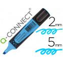 Rotulador qconnect fluorescente azul premium punta biselada con sujecion d