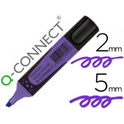 Rotulador qconnect fluorescente violeta premium punta biselada con sujecio
