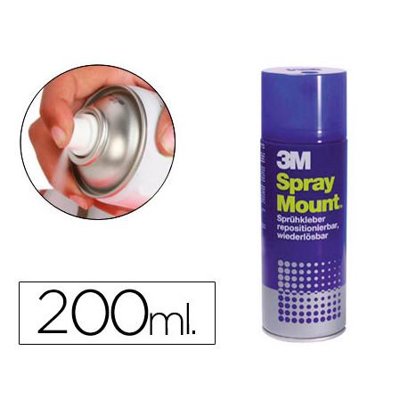Pegamento scotch spray mount 200 ml adhesivo reposicionable por tiempo limi