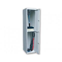 Taquilla metalica ar storage 50x180x40 cm 2 puertas con llave color gris in