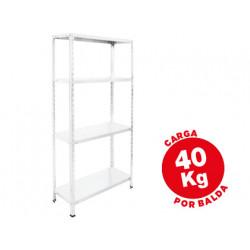 Estanteria metalica ar storage 150x75x30 cm 4 estantes 40 kg por estante co