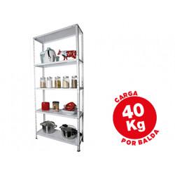 Estanteria metalica ar storage 170x75x30 cm 5 estantes 40 kg por estante co