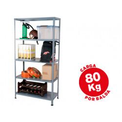 Estanteria metalica ar storage 180x90x40 cm 5 estantes 80 kg por estante co