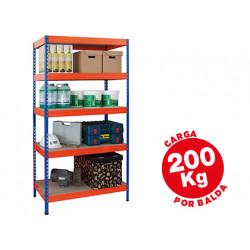 Estanteria metalica ar storage 180x90x45 cm 5 estantes 200kg por estante ba