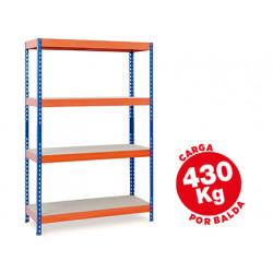 Estanteria metalica ar storage 200x100x60cm 4 estantes 430kg por estante ba