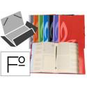 Carpeta liderpapel gomas carton forrado clasificadora folio 7 colores surti