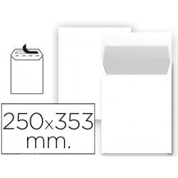 Sobre liderpapel bolsa n 10 blanco folio prolongado 250x353 mm tira de sili