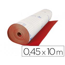 Rollo adhesivo especial ante color rojo rollo de 10 mt