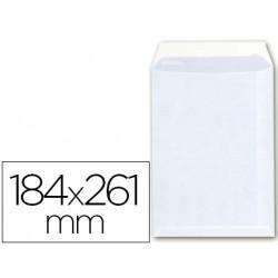 Sobre bolsa a6 offset blanco 100g 184x261 mm con tira de silicona caja 25