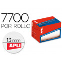 Etiqueta adhesiva apli 1671 tamaño 13 mm redondas en rollo de 7700 unidades