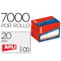 Etiqueta adhesiva apli 1677 tamaño 8x20 mm en rollo de 7000 unidades