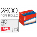 Etiqueta adhesiva apli 1681 tamaño 13x40 mm en rollo de 2800 unidades