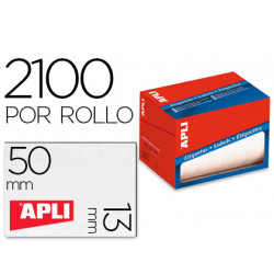 Etiqueta adhesiva apli 1682 tamaño 13x50 mm en rollo de 2100 unidades