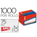 Etiqueta adhesiva apli 1687 tamaño 20x75 mm en rollo de 1000 unidades