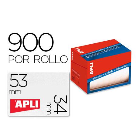 Etiqueta adhesiva apli 1694 tamaño 34x53 mm en rollo de 900 unidades