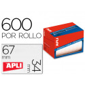 Etiqueta adhesiva apli 1695 tamaño 34x67 mm en rollo de 600 unidades