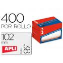 Etiqueta adhesiva apli 1698 tamaño 38x102 mm en rollo de 400 unidades