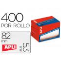 Etiqueta adhesiva apli 1703 tamaño 53x82 mm en rollo de 400 unidades