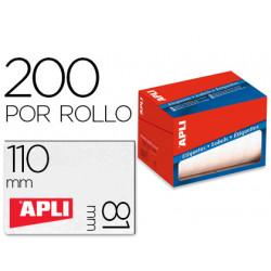 Etiqueta adhesiva apli 1705 tamaño 81x110 mm en rollo de 200 unidades