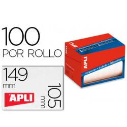 Etiqueta adhesiva apli 1706 tamaño 105x149 mm en rollo de 100 unidades