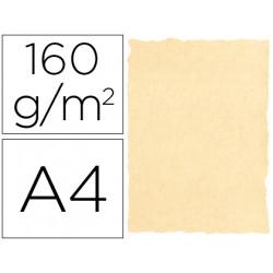 Papel pergamino din a4 160 gr color pergamino crema paquete de 25 hojas