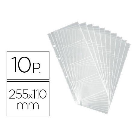 Recambio fundas duraclip visifix para tarjetero bolsa de 10 hojas capacidad