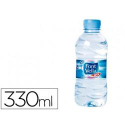 Agua mineral natural font vella botella sant hilari 330ml