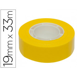 Cinta adhesiva apli 33 mt x 19 mm color amarillo
