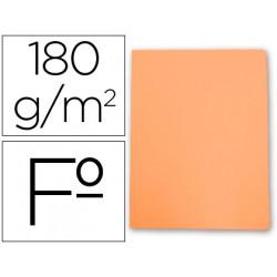 Subcarpeta cartulina gio folio naranja pastel 180 g/m2