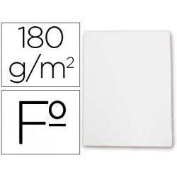 Subcarpeta cartulina gio folio blanca 180 g/m2