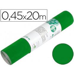 Rollo adhesivo liderpapel unicolor verde brillo rollo de 045 x 20 mt