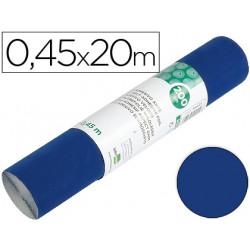 Rollo adhesivo liderpapel unicolor azul brillo rollo de 045 x 20 mt