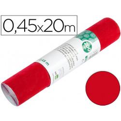 Rollo adhesivo liderpapel unicolor rojo brillo rollo de 045 x 20 mt
