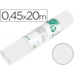 Rollo adhesivo liderpapel unicolor blanco brillo rollo de 045 x 20 mt
