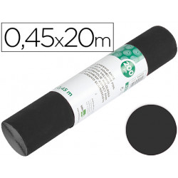 Rollo adhesivo liderpapel unicolor negro mate rollo de 045 x 20 mt