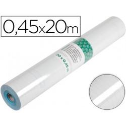 Rollo adhesivo liderpapel transparente rollo de 045 x 20 mt