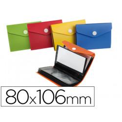 Carpeta liderpapel clasificador de tarjetas plastico para 40 tarjetas 80x10