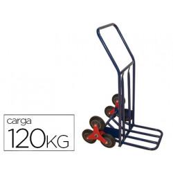 Carretilla portapaquetes salvaescalones con 6 ruedas tamaño 1160x600x800 mm