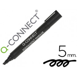 Rotulador qconnect marcador permanente negro punta biselada 50 mm