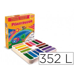 Lapices cera plastidecor caja de 352 colores