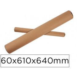Tubo de carton portadocumento tapa plastico 60x610x640 mm