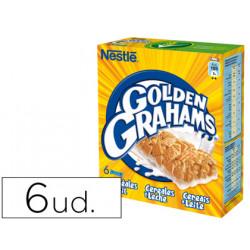 Barrita de cereales golden grahams paquete de 6 unidades