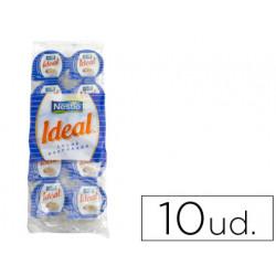 Leche evaporada ideal porciones de 75 gramos envase de 10 unidades