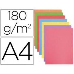 Subcarpeta cartulina gio din a4 colores pasteles surtidos 180 g/m2 paquete
