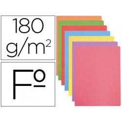 Subcarpeta cartulina gio folio colores pasteles surtidos 180 gr/m2 paquete
