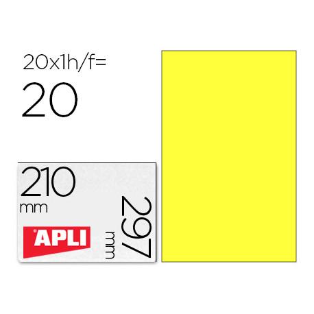 Etiqueta adhesiva apli 02878 tamaño 210x297 mm para laser fotocopiadora ink